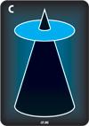 Cyan (Light Blue), Reverse Cone